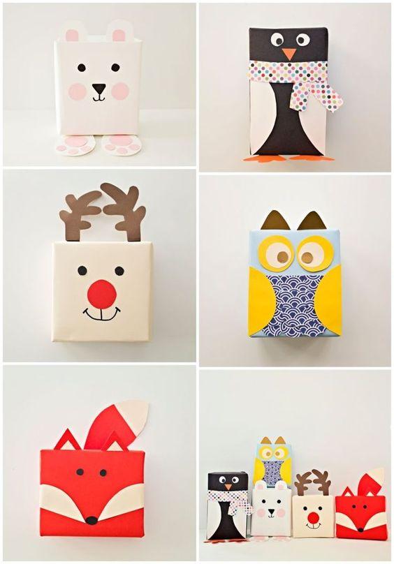 un DIY para divertirte creando diferentes animales que te servirán decorar tus regalos .