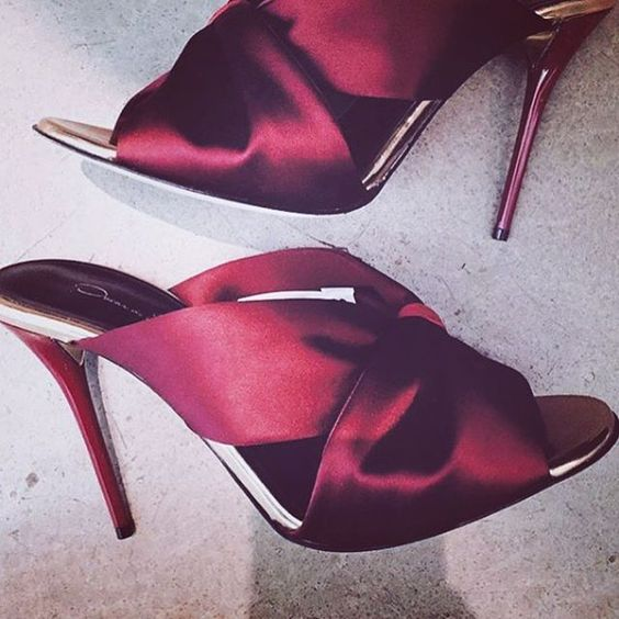 The ruby slippers #prefall #oscardelarenta