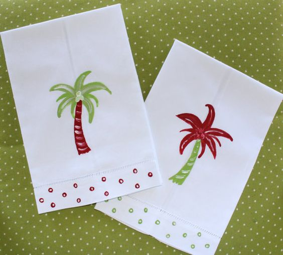 Coastal Christmas Guest Towels