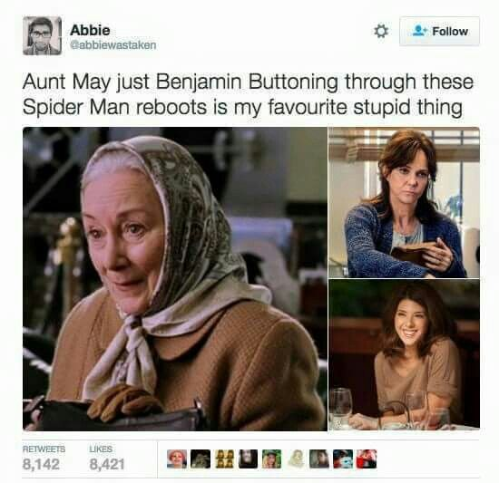 Aunt May Spiderman reboots