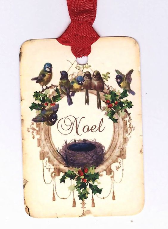 Holiday bird tag