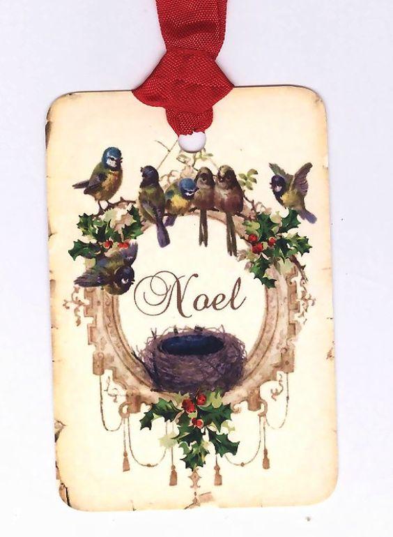 Holiday bird tag