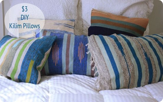 If you are crazy about kilim, check out how to turn cheap rugs into stylish kilim pillows for only a couple bucks!