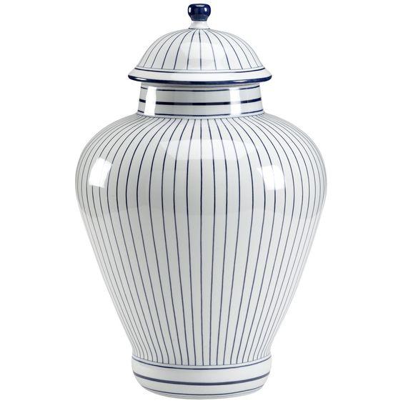 Chelsea House Castle Blue Porcelain Urn