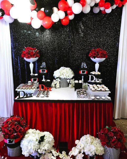 Irina Ungarova S Photos Red Birthday Party Birthday Party At Park 40th Birthday Decorations