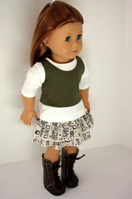 American Girl Doll ClothesRuffled Skirt Top and by sewurbandesigns