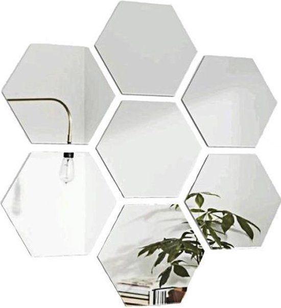 Hexagon Wandspiegel Woonkamer Decoratie Zeshoek Wand Spiegel Set 12 Stuks 184 Spiegel Set Woonkamer Decoratie Spiegel