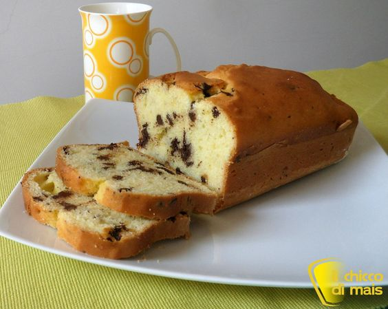Plumcake con gocce di cioccolato ricetta dolce il chicco di mais foto