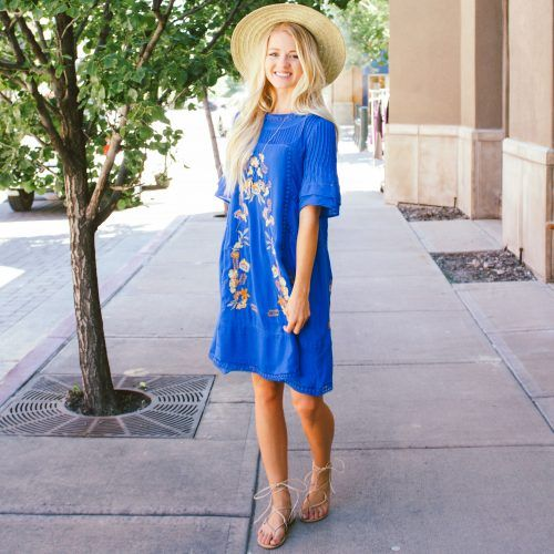 Embroidery and Lace Dress
