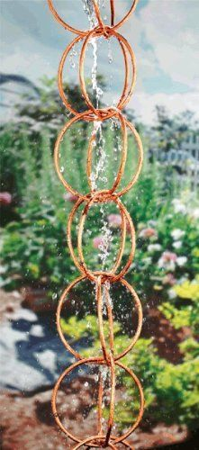 Double Link Rain Chain in Polished Copper by Good Directions. $78.47. Made in India. Includes gutter installation clip. Made from copper. Handcrafted in the old world style with superior workmanship. Warranty: One year. Double Link Rain Chain in Polished Copper - Good Directions - 704940646419. Save 35% Off!