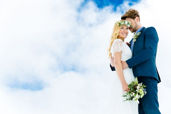 Hochzeitsfotos in den Bergen