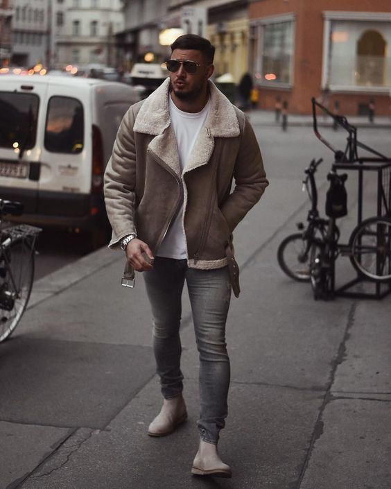 60 best ways to style a shearling jacket. Shearling leather