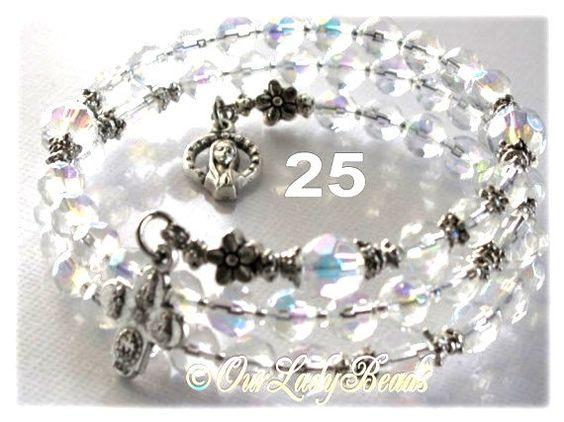 Rosary BraceletWrap Rosary BraceletCrystal AB by OURLADYBeads, $25.00