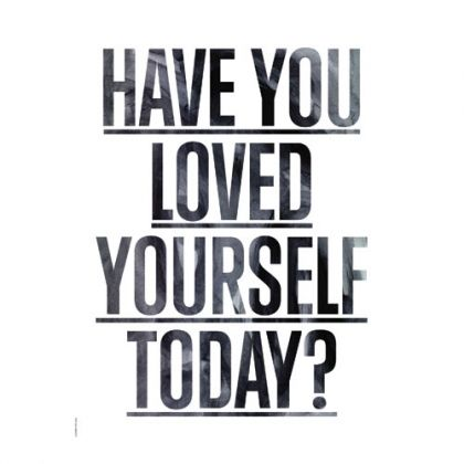 poster loved yourself i love my type a3 blanc