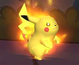 Volt Tackle is unleashed! Pikachu transforms into a ball of light.