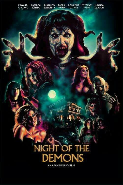 Night Of The Demons Remake The Greatest Halloween Flick Ever I Love This Cover Art So Much 3 Classic Horror Movies Movie Posters Scary Movies