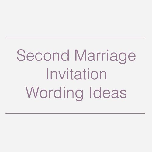 Second wedding invitations, Wedding invitation wording and Second ...