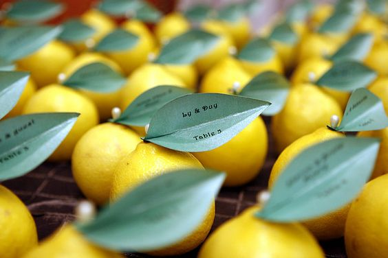 we could do lemons this way using them as seating markers
