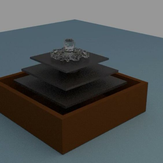 #blender #animation of a #fountain Really basic, but I managed to figure out the fluid simulation and then I learned how to save an animation. And the design of the fountain is based on one of those tabletop ones they used make. #art #artistic #artoftheday #digitalart #digitaldrawing #drawingaday #rendering #render #water