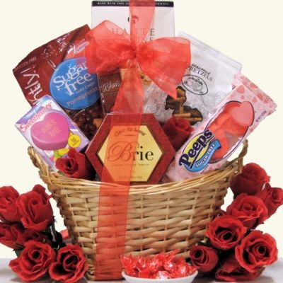 """Valentine's Day doesn't have to be all about sugar. We have created the perfect way to say I Love You to anyone who is diabetic, on a low-carb diet or just watching their health. The My """"Sweet"""" Valentine gift basket has a wonderful assortment of all sugar-free treats including Peeps Red Valentine Sugar Free Hearts, Asher's Sugar Free Milk Chocolate Bar, Go Lightly Pomegranate Sugar Free Hard Candy and more. A perfect way to let them know you are thinking of them this Valentine's Day!"""