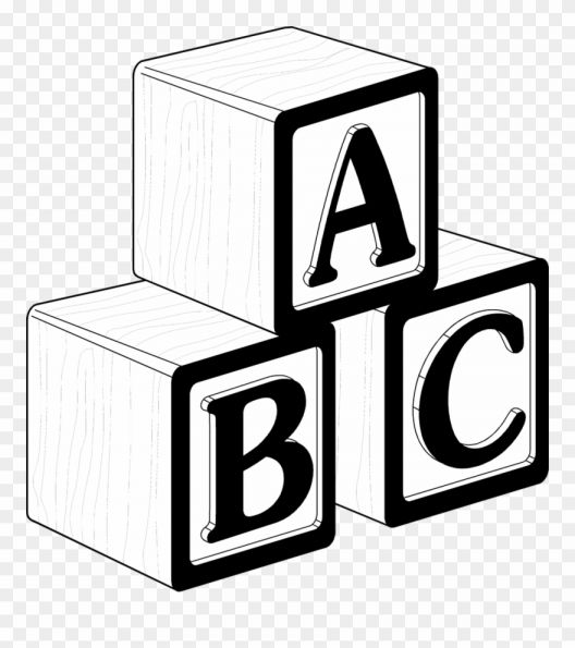 17 Abc Blocks Png Black And White Abc Blocks Block Lettering Clip Art Library