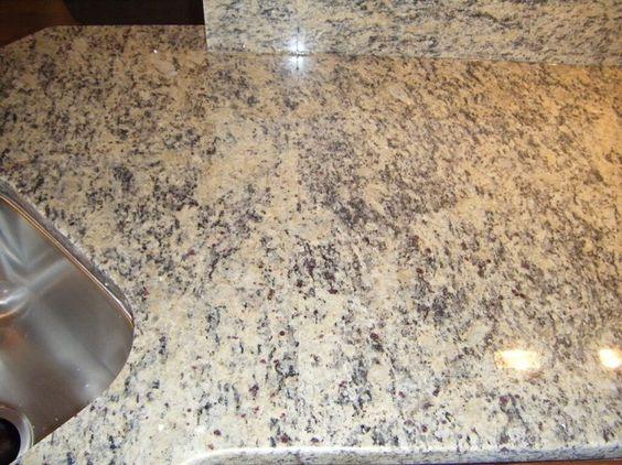 Light Tan Granite Countertops Santa Cecilia