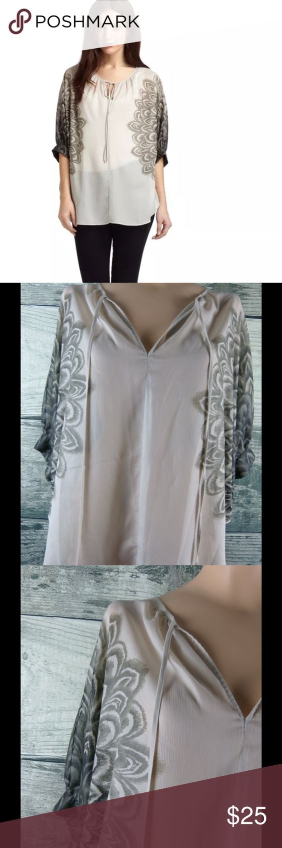 BCBG MAX AZRIA Fiona Dolman Blouse. Sz Small Condition: As new  Color: Gray  Fabric: 100% polyester  Loose fitting BCBGMaxAzria Tops Blouses