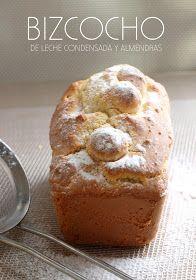 Bocados dulces y salados: BIZCOCHO DE LECHE CONDENSADA Y ALMENDRAS