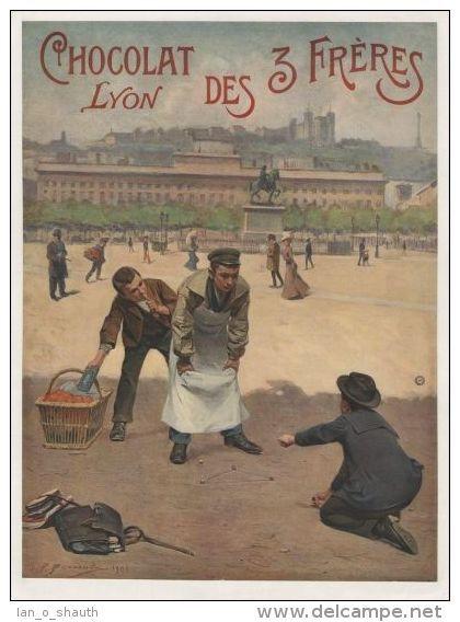 Postcard - Chocolat des 3 Fréres Lyon 1901