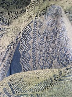 Antique Shetland lace shawl from Unst. I've seen this in person and it's stunning.