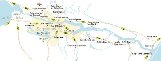 Cartes - Découvrir Saguenay - Ville de Saguenay
