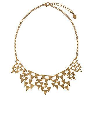 Collier imposant orné de pyramides aztèques | Or | Accessorize