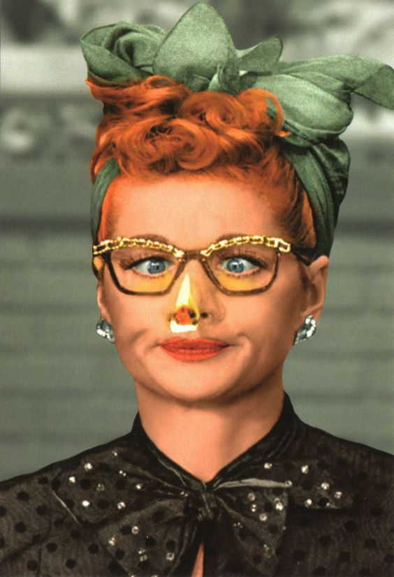 I Love Lucy Nose On Fire Postcard | LucyStore.com: