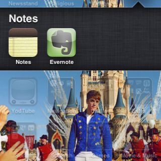 iPhone background bieber style :)