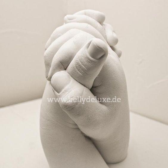 Hochzeitspaar Gipsabdruck der Hände