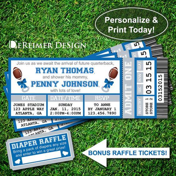 Printable Birthday Party Invitation Card Detroit Lions: Pinterest • The World's Catalog Of Ideas