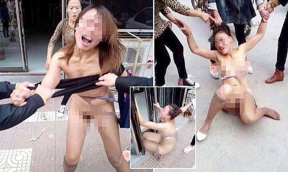 Certainly chinese woman beaten and stripped are