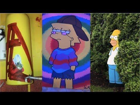Tiktok Painting Compilation 4 Youtube The Simpsons Theme Painting Original Music