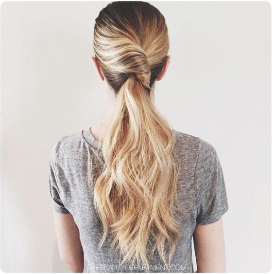 love this french twist bridal ponytail ~  we ❤ this! moncheribridals.com