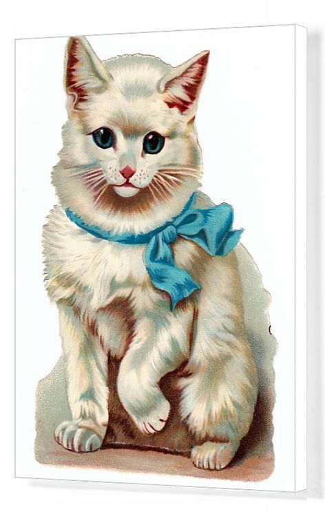 Cute Vintage Kitten Clip Art
