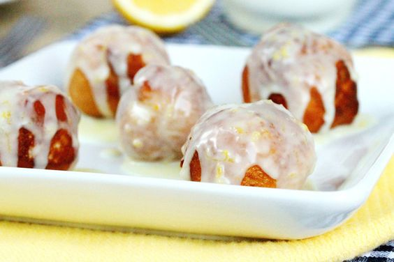Donut Balls with Tart Lemon Glaze - made with just 4 ingredients. Please click on the photo in Yumgoggle to get to this delicious recipe. Enjoy!