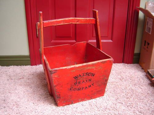 Antique Wood Grain Bucket Yoke Handle Watson Grain Company