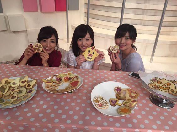 内田敦子ハートのクッキーもって笑顔画像