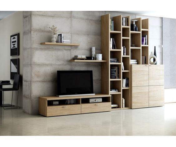 bibliothèque avec meuble tv | tv unit | pinterest | salons, tvs