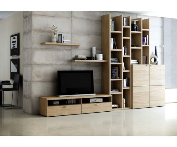Biblioth que avec meuble tv meuble biblioth que for Meuble bibliotheque design