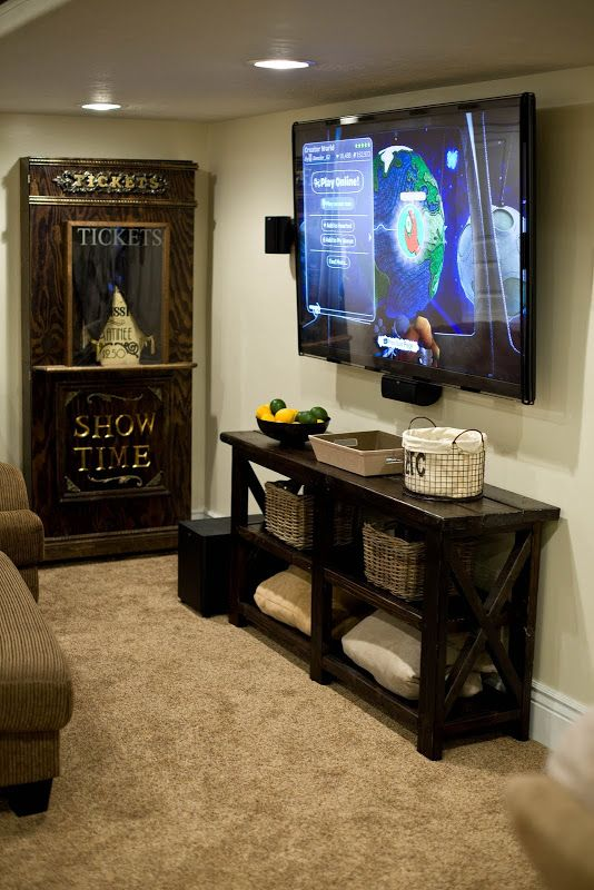 Remodelaholic   Home Sweet Home on a Budget: Bloggers' Basement Rec Rooms    Family Room   Pinterest   Basements, Budgeting and Room