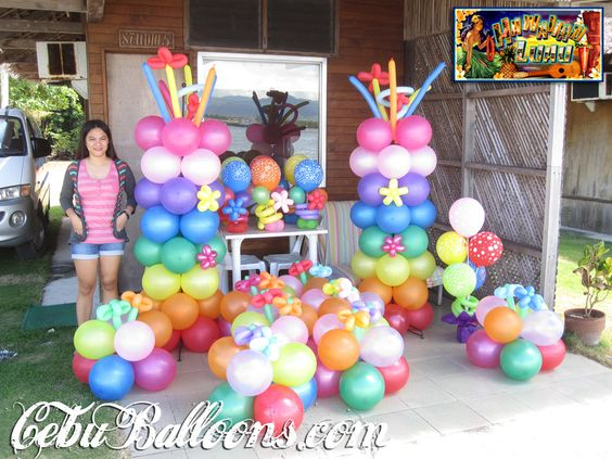 Luau party ideas balloon decoration packages cebu for Balloon decoration packages manila