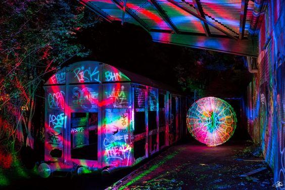 Lightpainting mit Disco-Light