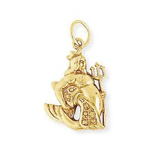 Jewelco London Oro 9 Carati AQUARIUS ZODIAC STAR SIGN Charm Ciondolo Astrology