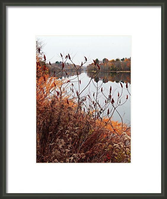 Mirror Smooth River Framed Print By Expressionistar Priscilla-batzell